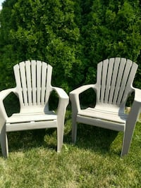 2 Plastic Muskoka Chairs/Adirondack Chairs with so Oakville, L6H
