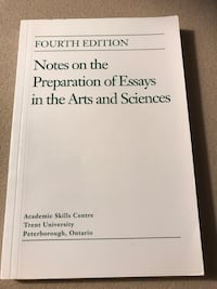 Fourth edition notes on preparation of essays