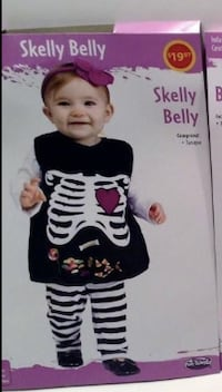 SKELLY BELLY Halloween costume for toddlers (12-24mo) *NEW* Montréal