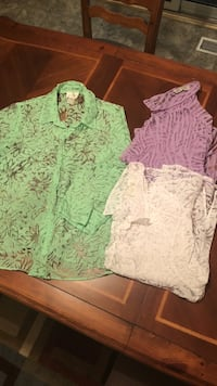 Studio Works Sheer Button Downs XL Muncie, 47303