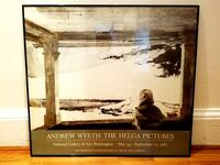 ANDREW WYETH 1987 Exhibition Poster Framed The Helga Pictures National Gallery of Art Exhibit Washington DC Wall Art History Decor Hanging Wall Art Home Decor Vintage Collectible Boston