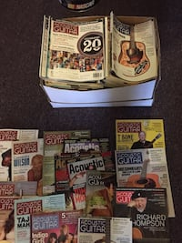 139 Acoustic Guitar magazines. 11 1/2 years of back issues