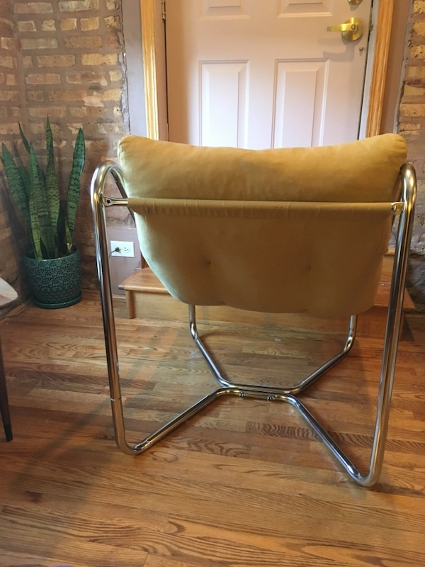 Prime Vintage Unarco Chrome Sling Lounge Chair Evergreenethics Interior Chair Design Evergreenethicsorg
