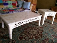 white wooden coffee table with two side tables Bluffton, 29910