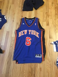 f9928adc9 Used black and blue New York 6 NBA basketball jersey for sale in ...