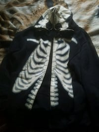Black and white skeleton hoody