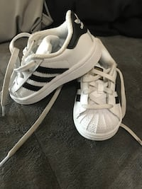 Size 5 toddler adidas shoes .. only 4 months old cost me $49 asking $30 for them