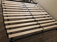 IKEA King size Bed Frame and Zinus Adrianne Solid Wood Vertical Bed Support Slats / Bunkie Board, King - Brand New - Bought in Feb 2019 Morrisville, 27560
