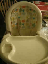 white, teal, and pink feeding high chair Edmonton, T5Y 2N4