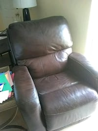 brown leather recliner sofa chair Port Charlotte, 33981