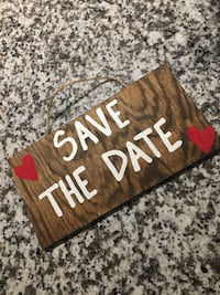 Wedding Brown and white wooden sign Laurel, 20707