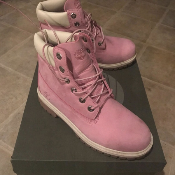 7b7ea87a28 Used pair of pink Timberland size 7 womens work boots for sale in  Hagerstown - letgo