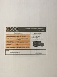 QSee security cameras 4 in the box Coquitlam, V3B