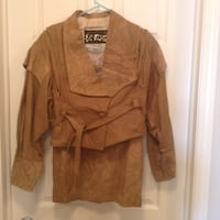 Leather outfit, tan, jacket and skirt. Size 10 Edmonton, T6W 3S2
