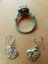 Price drop Sterling silver ring and earrings Oklahoma City, 73112