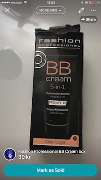 Fashion Profession BB cream box skärmdump Malmø, 214 54