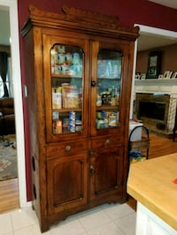 Antique eastlake cupboard with pie safe,  1880s