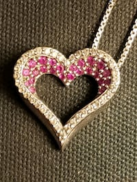 Heart Pendant with Diamonds and Rubies