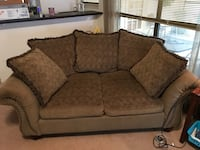 Brown couch and love seat with 2 matching end tables  Carrollton, 75007