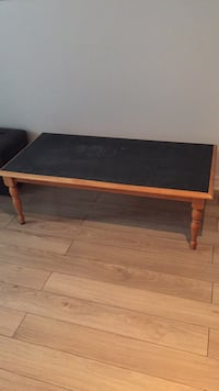 Solid wood coffee table with painted chalkboard top. Great for kids to use with match box cars or lego! Ottawa, K2G 2X1