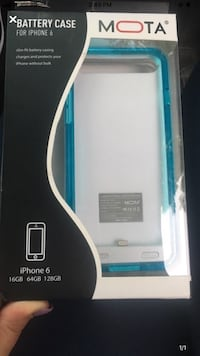 IPhone 6 battery case. Brand-new never been used