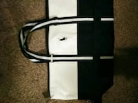 black and white leather tote bag Mauldin, 29662