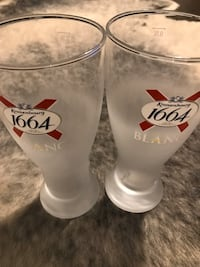 Frosted Branded Beer Glasses x2 Toronto, M6K 0C1