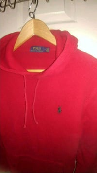 Men's Red Polo Ralph Lauren Thermal Hoodie