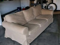 Beige couch with slip covers Rancho Santa Margarita, 92688