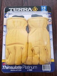 TERRA DEERSKIN LEATHER GLOVES 2 PAIRS LARGE 3M THI Vaughan, L4L 1V3