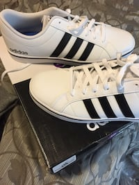 WHITE ADIDA SHOES (SIZE10) Calgary, T1Y 2Y8
