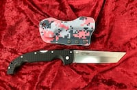 COLD STEEL XL VOYAGER TANTO KNIFE CARPENTER CTS-BD1 STEEL CUSTOM KYDEX BELT SHEATH Virginia Beach, 23464