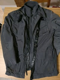 black zip-up jacket Vancouver, V5R 4N1