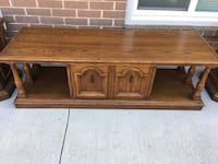 brown wooden TV stand with cabinet Mississauga, L5J 2E7