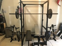 Power Rack and Weights 625lbs Whitmore Lake