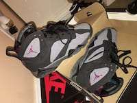 Gray-and-black Air Jordan 6's with box size 4.5 Negotiable Beltsville, 20705