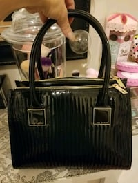 black and gray leather handbag Toronto, M6H 3Z5