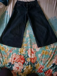 black, blue, and red floral pants Brooklyn, 11230