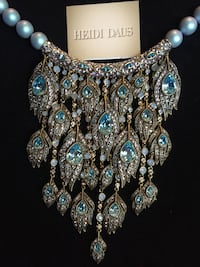 gold-colored and diamond studded necklace Omaha, 68110