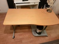 Excellent Table with wheels+Desk Lamp+Trash Can Lund, 223 63