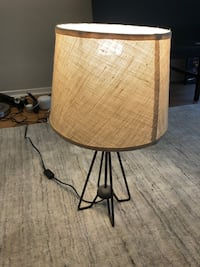 Cost Plus Black Iron Hairpin Kent Table Lamp - Shade Included!