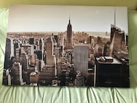 Large Manhattan skyline on canvas Rockville, 20852