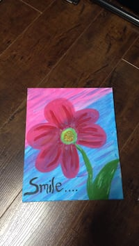 pink and green flower painting Edmonton, T5G 1G1