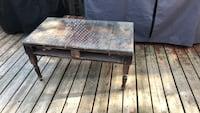 Pallet coffee table with thick glass top Barrie, L4M 2Y7