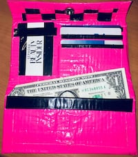 Unique pink & black checkered duct tape checkbook wallet Jacksonville, 72076