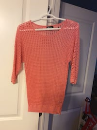 Coral pink (sparkly) top - size small Ottawa, K1J 1K1