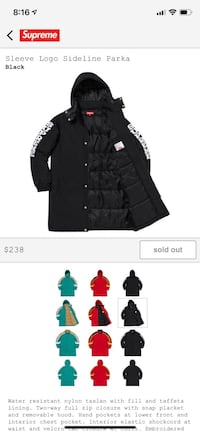 Supreme long winter jacket  Washington, 20024