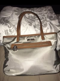 white and brown leather tote bag 48 km