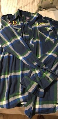 Blue/Green Modern Culture Flannel size XL Lake Forest, 92630