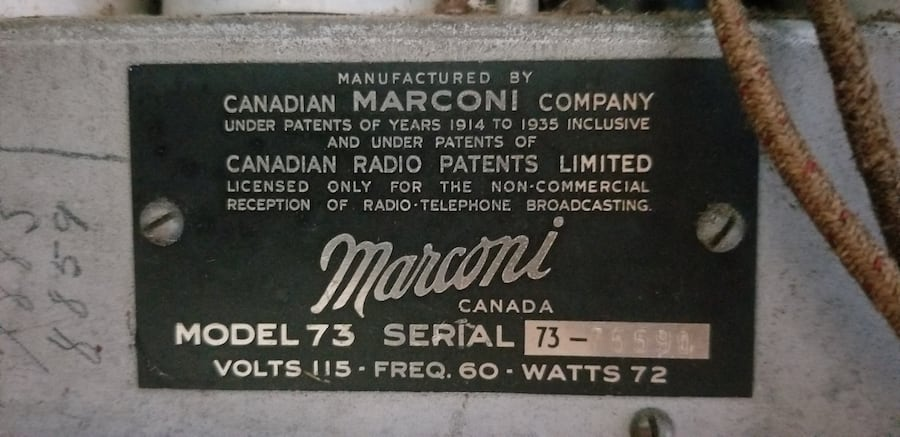 Vintage Marconi tube radio from 1935 e332dd93-1839-43f2-b363-b1f36db42cd2